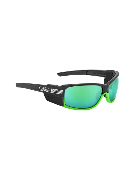 Окуляри Salice 015 RWP BLACK GREEN mirror hydro green