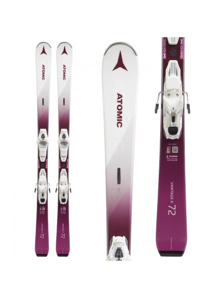 Лыжи горные Atomic Vantage WMN X72 + Крепления LITIUM 10