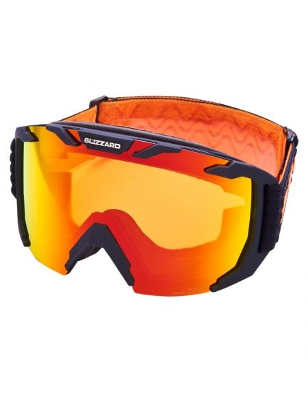 Горнолыжная маска Blizzard 925 MDAZWO black matt orange 1 infrared REVO SONAR