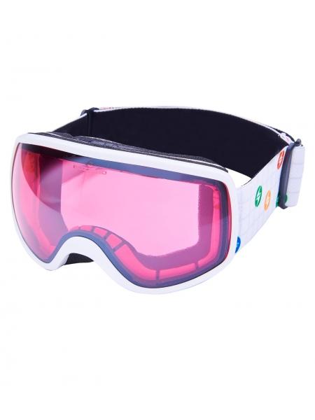 Гірськолижна маска Blizzard 963 DAO white shiny rosa 1 silver mirror