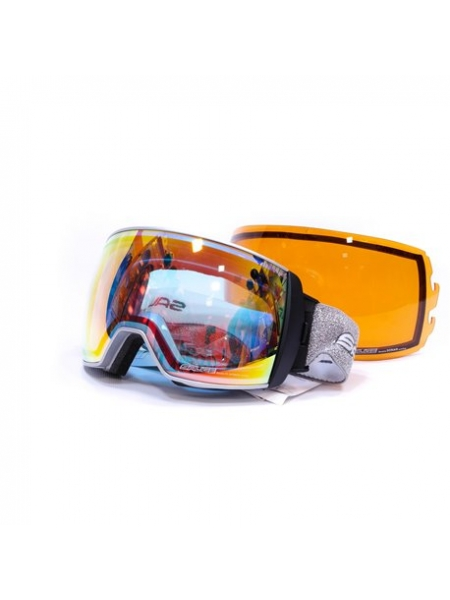 Лижні окуляри Salice 605 CHROME RW CLEAR+SONAR