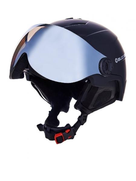 Шолом Blizzard DOUBLE VISOR black matt smoke lens mirror