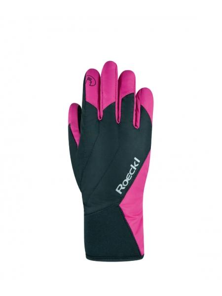 Горнолыжные перчатки Roeckl Alaska GTX black/pink