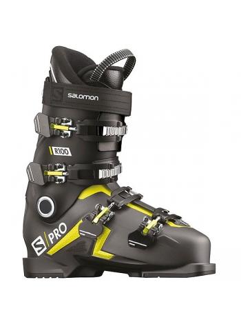 Ботинки горнолыжные Salomon S PRO R100 beluga m-black -acid gre