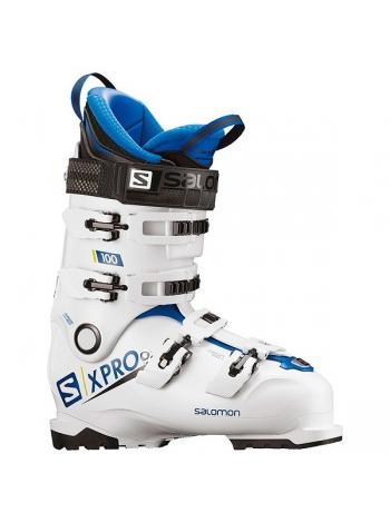 Ботинки горнолыжныеі Salomon X PRO 100 white-race blue-acid green