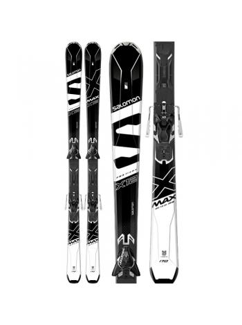Лижі Salomon E X-MAX X12 Black-White+E Z12 GW-F80