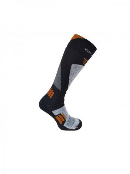 Шкарпетки  Brubeck junior SKI FORCE сіро-помаранчеві
