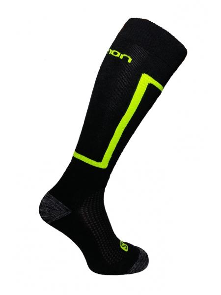Шкарпетки Salomon ELIOS black-neon yellow