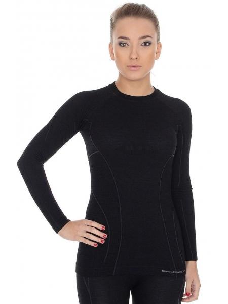 Термобілизна блуза жіноча Brubeck ACTIVE WOOL black