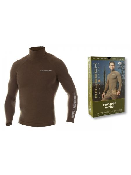 Термобілизна блуза чоловіча Brubeck RANGER WOOL khaki
