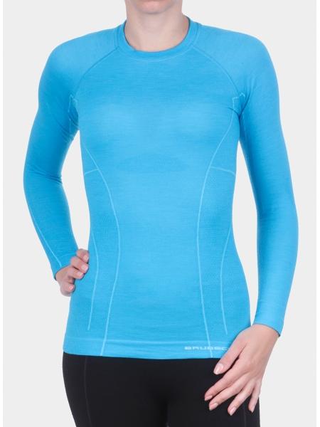 Термобілизна блуза жіноча Brubeck ACTIVE WOOL bright blue