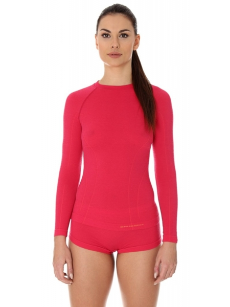 Термобілизна блуза жіноча Brubeck ACTIVE WOOL malinowa