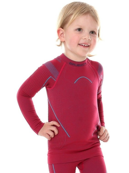 Термобілизна блуза дитяча Brubeck THERMO KIDS rubinowy